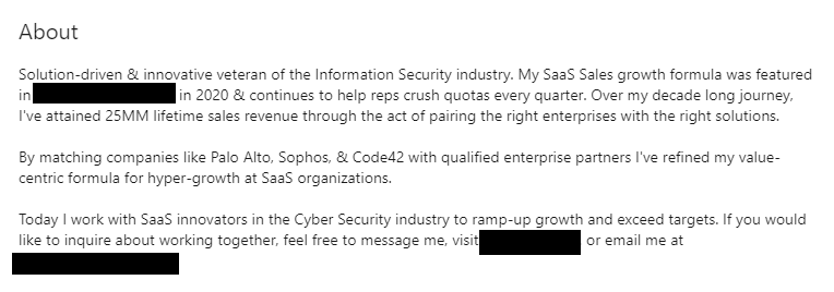 Perfect LinkedIn About Section